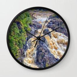 Powerful Barron Falls Wall Clock
