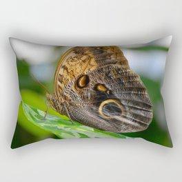 Owl Eye Butterfly by Teresa Thompson Rectangular Pillow