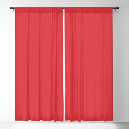 Poppy Red Blackout Curtain