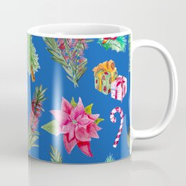 Christmas Pattern with Australian Native Bottlebrush Flower Coffee Mug