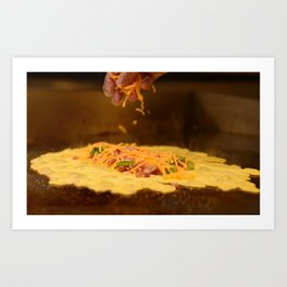 Ham and Cheese Omelet Photograph Art Print