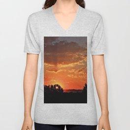Idaho Sunset Unisex V-Neck