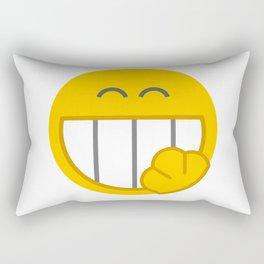 yellow smile Rectangular Pillow