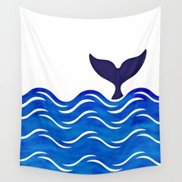 Blue Whale Tail Wall Tapestry