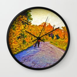 Autumn Stroll Wall Clock