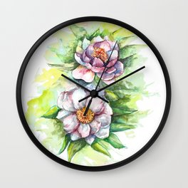 Cherry flowers watercolour Wall Clock