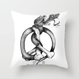 Believe the Dogma - No Peace Throw Pillow