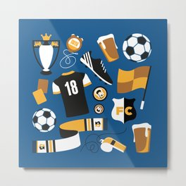 Football Fan Metal Print