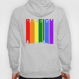 Raleigh North Carolina Gay Pride Rainbow Skyline Hoody