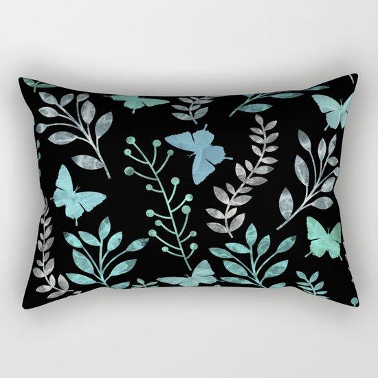 Watercolor flowers & butterflies IV Rectangular Pillow