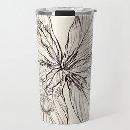 Floral Ink Illustration Travel Mug