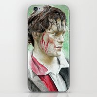 outlander iPhone & iPod Skins featuring James Fraser by Livia Pascu