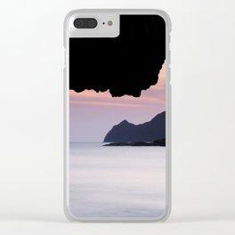 Half Moon sea.... Clear iPhone Case