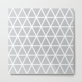 Light Grey Triangle Pattern 3 Metal Print