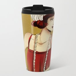 Flapper Girl #2 Metal Travel Mug
