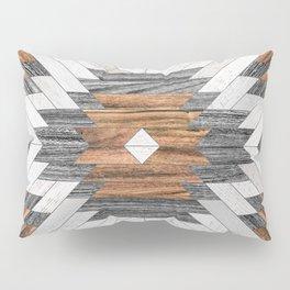 Urban Tribal Pattern No.8 - Aztec - Wood Pillow Sham