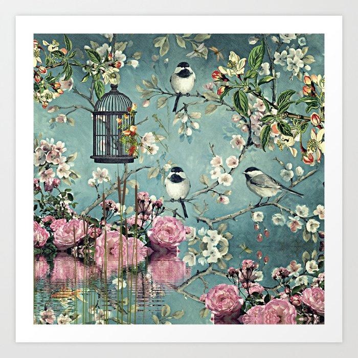 Oriental garden art print