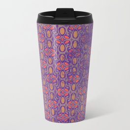 Distressed Spring Pattern Metal Travel Mug