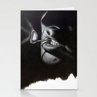 lou reed Stationery Cards featuring Lou Reed Is Dead by Tom Christophersen Creates