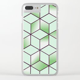 Electric Cubic Knited Effect Design Clear iPhone Case