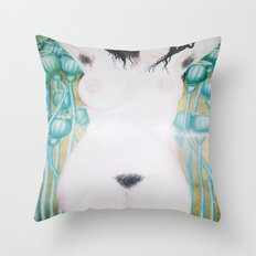 Poppy Goddess Throw Pillow