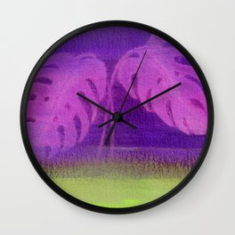 Yesterday's News Violet Wall Clock