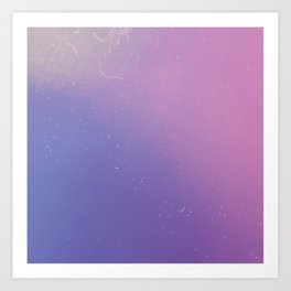Faded Vintage Pink and Purple Ombre Galaxy Art Print