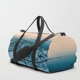 Winter Sunset in Nahant Massachusetts Duffle Bag