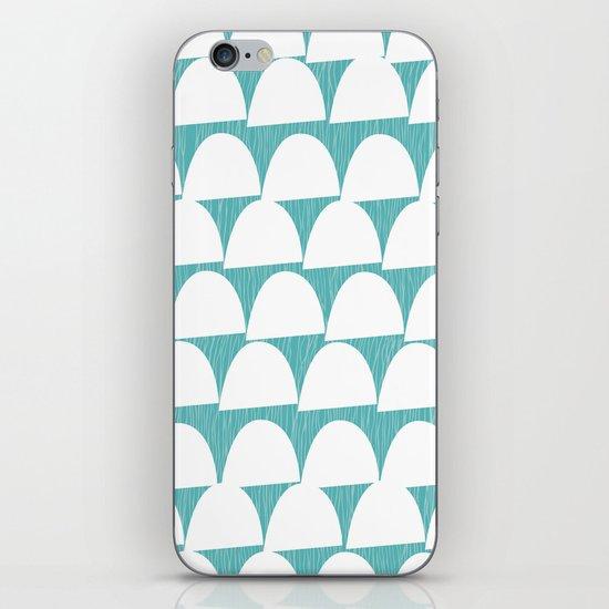 Shroom reverse aqua iPhone & iPod Skin