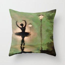 Dancing Silhouette Throw Pillow