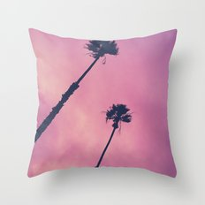Pink Haze | Palms Throw Pillow