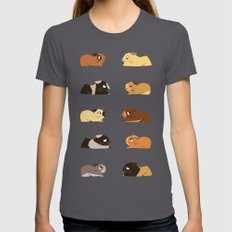 Guinea pigs Asphalt Womens Fitted Tee SMALL