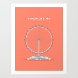 Singapore Flyer, Singapore [Building Singapore] Art Print