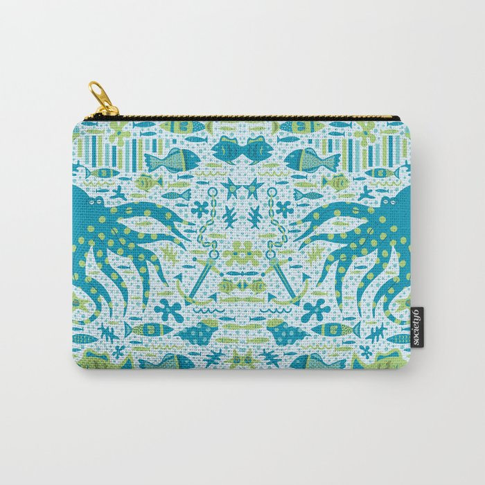 SEA PATTERNS Carry-All Pouch