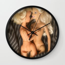 Girls in bed Wall Clock