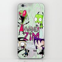 invader zim iPhone & iPod Skins featuring Invader Zim best decoration ideas by customgift