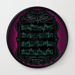 The Sound of My Heart Beat Wall Clock