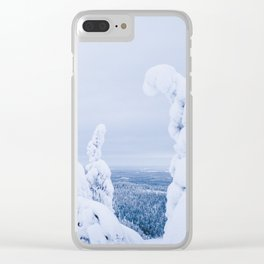 Blue Hour in Winter Wonderland Clear iPhone Case