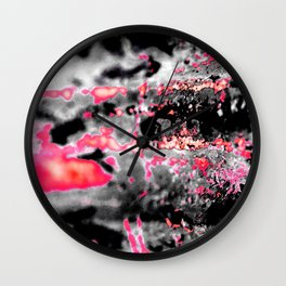 Abstract rough surface Wall Clock