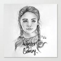 arya stark Canvas Prints featuring Arya stark by Nicolaine