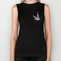 Love and Freedom - Silver/Gray Biker Tank