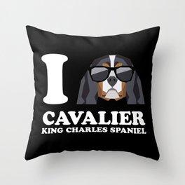 I Love Cavalier King Charles Spaniel modern v2 Throw Pillow