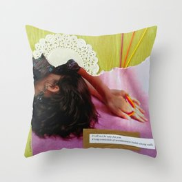 Dazed and Depressed Throw Pillow