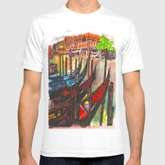 Paradisal Venice White Mens Fitted Tee MEDIUM