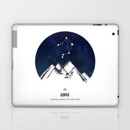 Astrology Libra Zodiac Horoscope Constellation Star Sign Watercolor Poster Wall Art Laptop & iPad Skin
