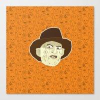 freddy krueger Canvas Prints featuring Freddy Krueger by Kuki