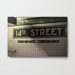 14th Street Station Metal Print