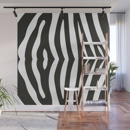 Zebra black and white pattern Wall Mural