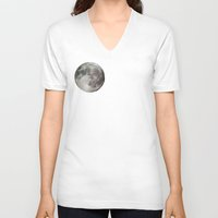 the moon V-neck T-shirts featuring Moon by Matt Bokan