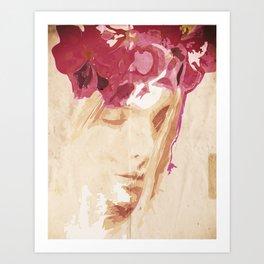 Flower portrait Art Print